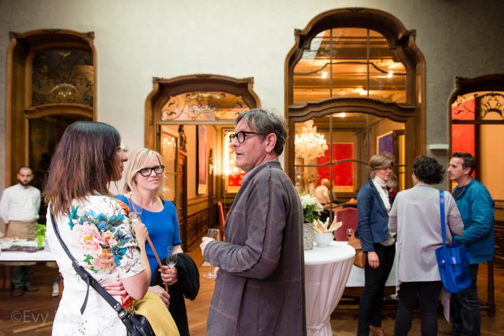 25 april 2014 - Antwerpen, België - Diner ter ere van de tentoonstelling Albert Pepermans in Huis Happaert. @Evy Raes