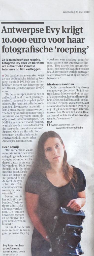 26 mei 2010, Gazet van Antwerpen
